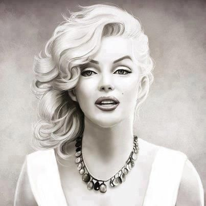 403x403 Perfection ^^ Black Amp White Pencil Drawing Marilyn Monroe