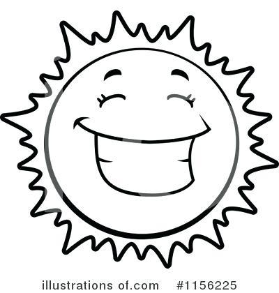400x420 Drawn Sun Black And White