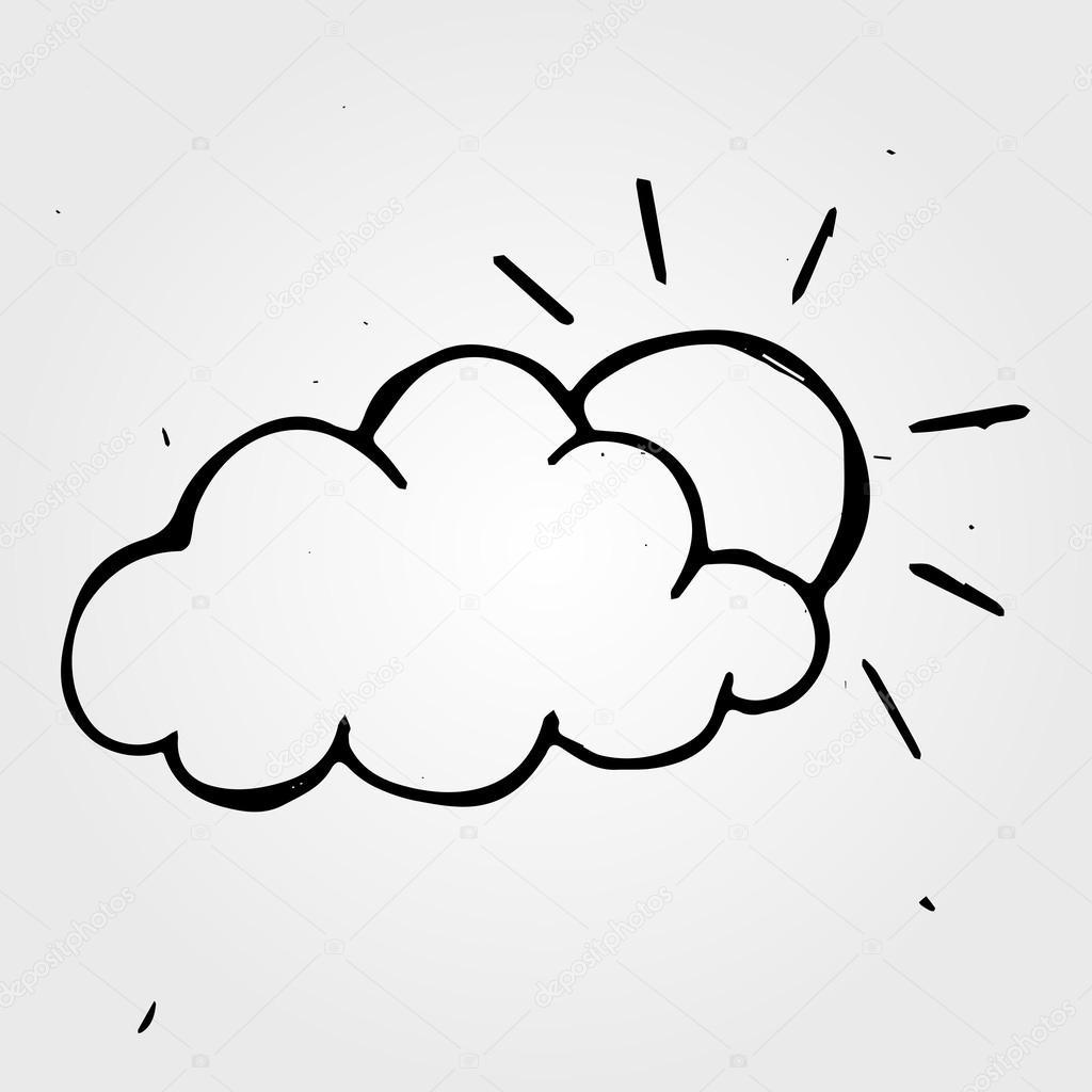 1024x1024 Drawn Sun Cloud