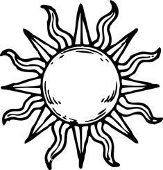 235x245 Simple Sun Drawing Black And White