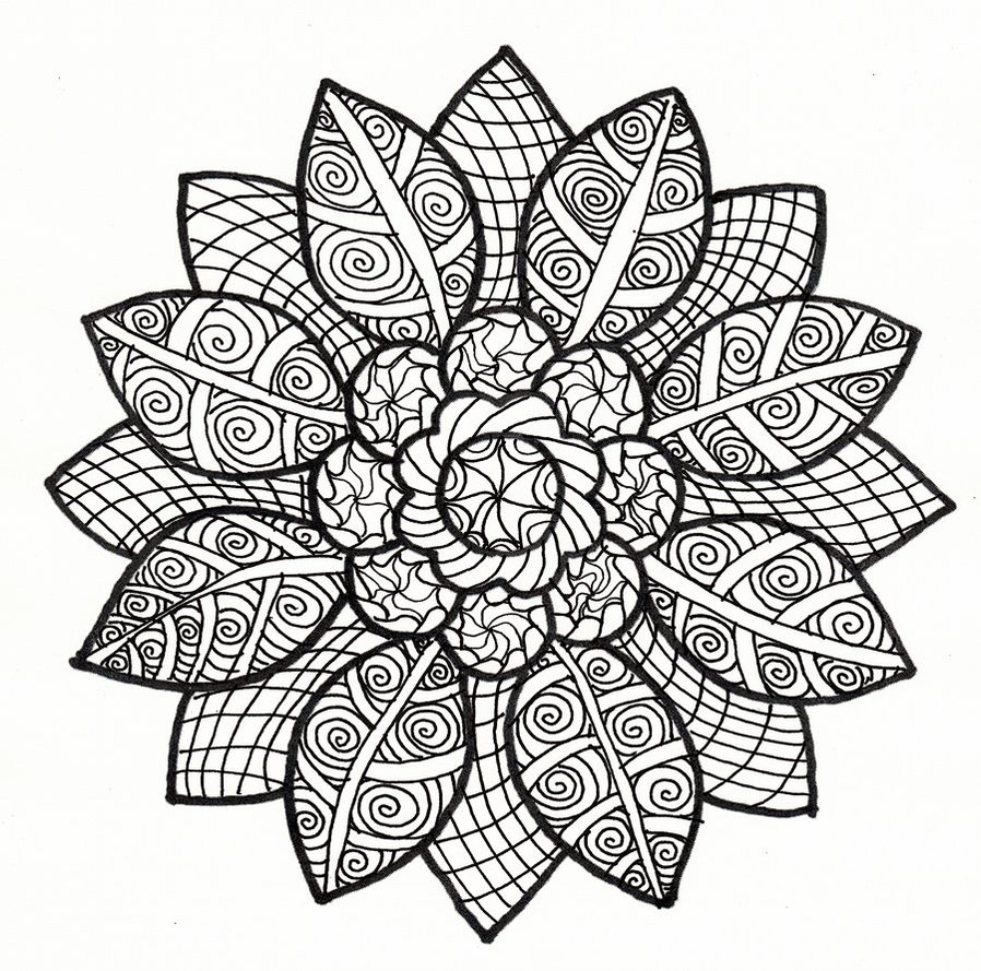 898x889 Sun Petal Collab Black And White Version By Crazyruthie