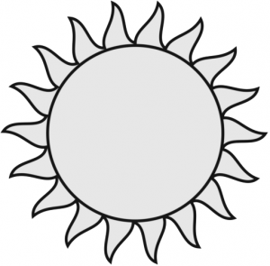 300x295 Collection Of Sun Drawing Black And White High Quality, Free