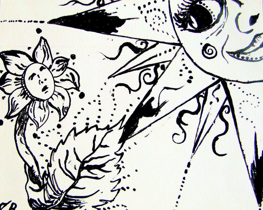 900x716 Hot Sun Drawing By Jody Valiant