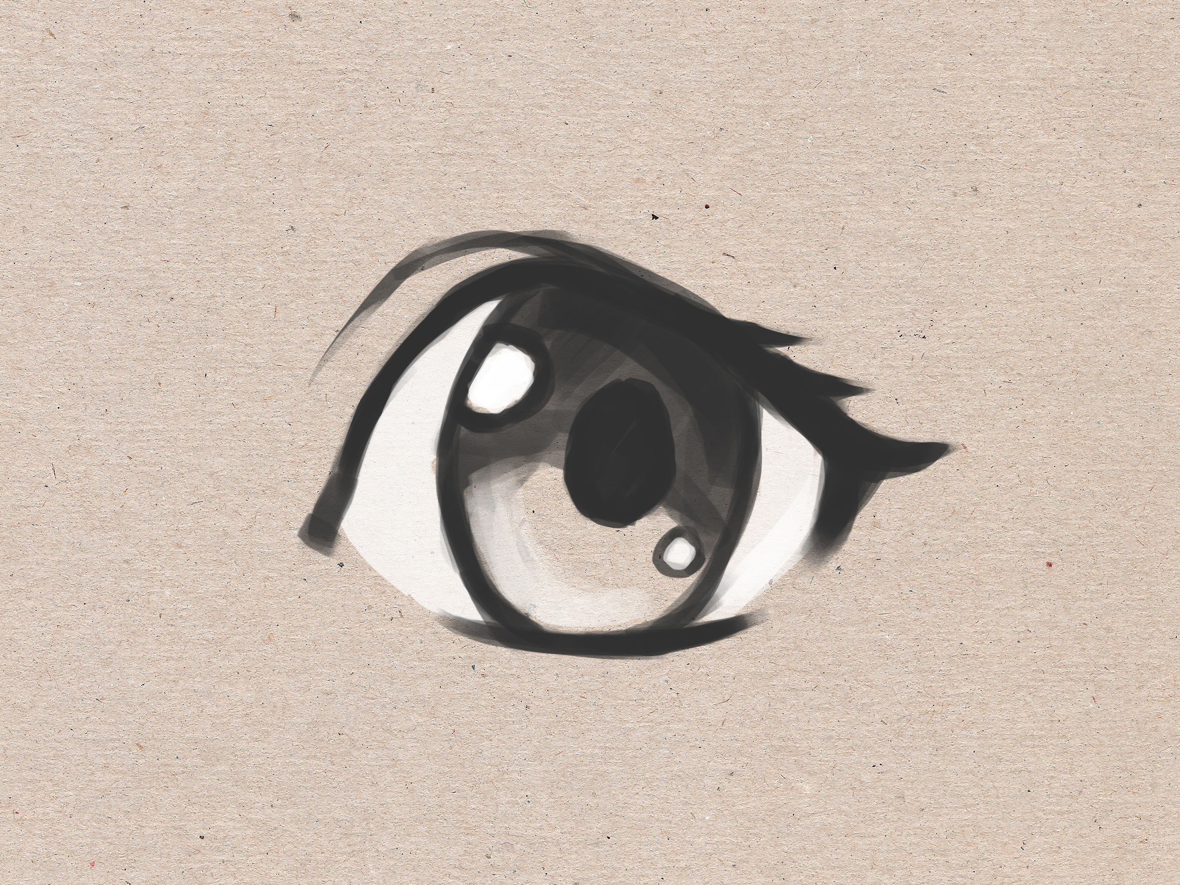 2304x1728 How To Draw Simple Anime Eyes 5 Steps (With Pictures)