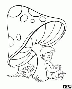 280x343 Drawn Mushroom Cartoon