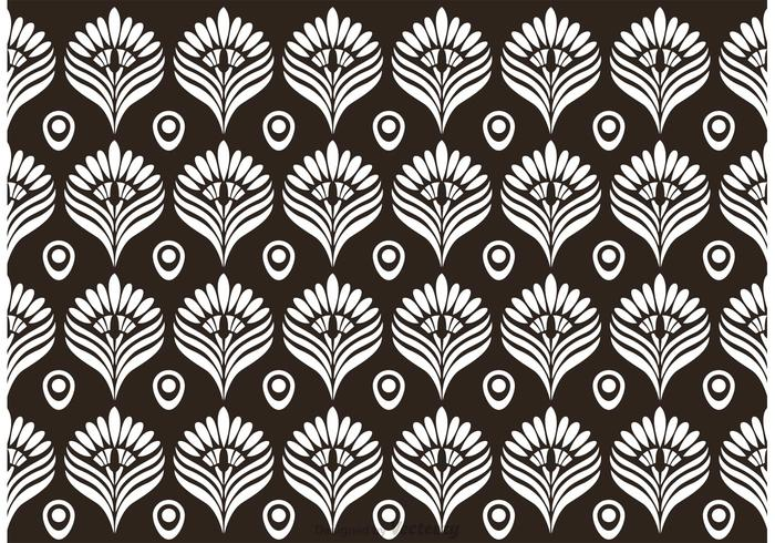 700x490 Black And White Peacock Pattern Vector