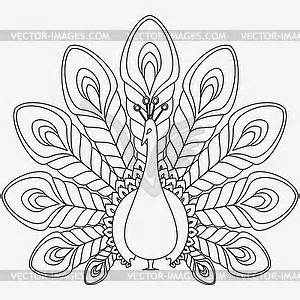 300x300 Black And White Peacock Clipart Amp Black And White Peacock Clip Art