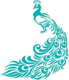 236x272 Black And White Peacock Design