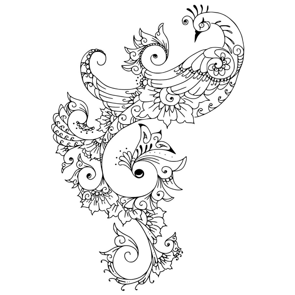1024x1024 Black And White Peacock Tattoo Peacock Tattoo Designs Best Tattoo