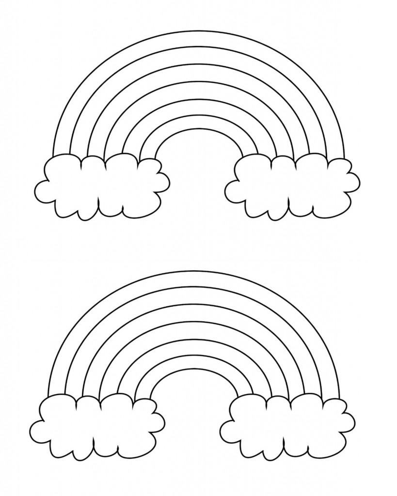 819x1024 Free Printable Rainbow Templates