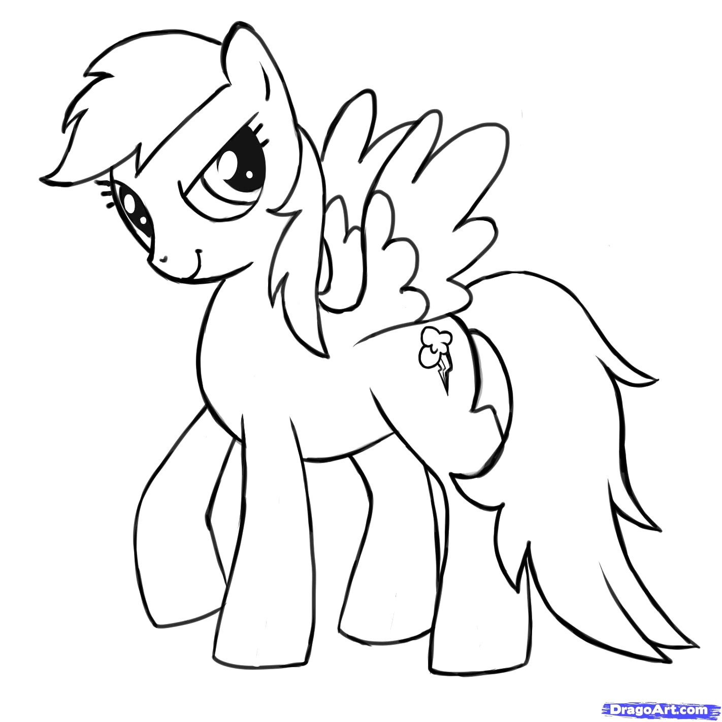 1422x1422 My Little Pony Coloring Pages Rainbow Dash Best Of Mlp Printable