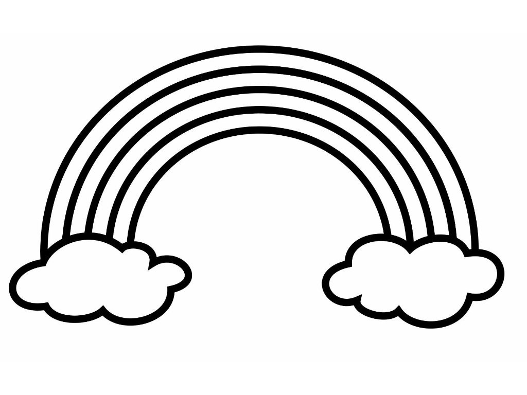 1024x768 New Rainbow Clipart Black And White Gallery