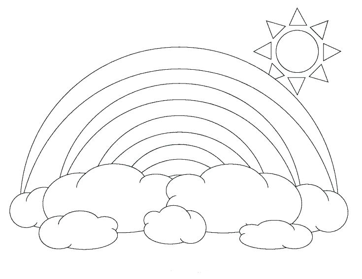 735x568 Rainbow Coloring Page Rainbows Coloring Pages Clouds Coloring Page