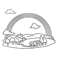 230x230 Rainbow Coloring Pages