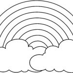 150x150 Rainbow Black And White Coloring Page A Simple Drawing Of Rainbow