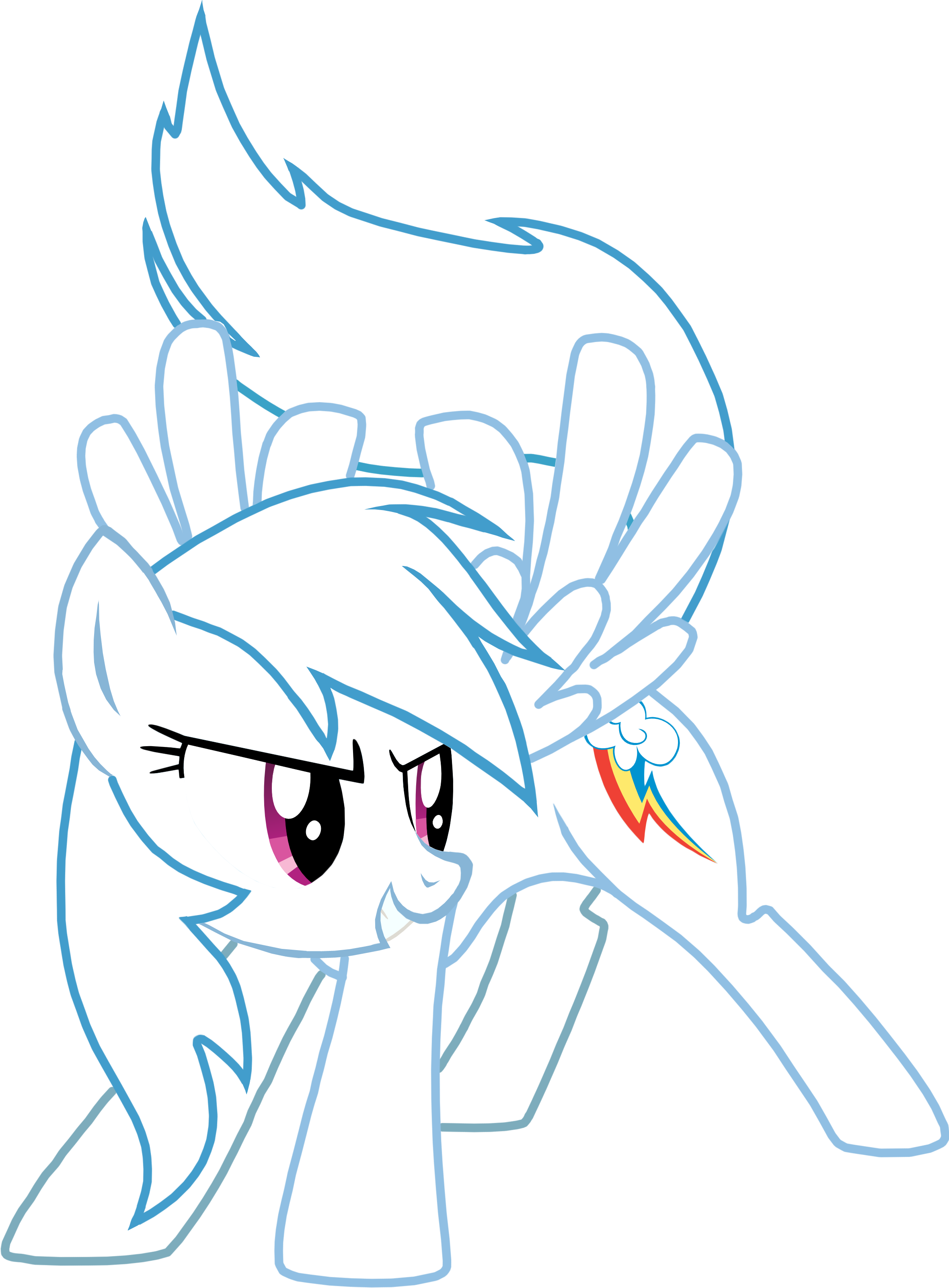 2360x3202 Collection Of Rainbow Dash Clipart Black And White High
