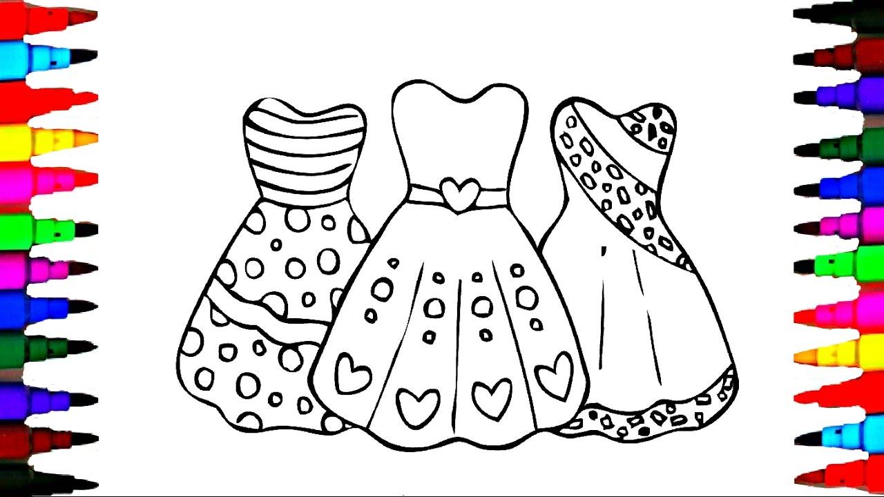 1280x720 How To Draw Girls Barbie Dress
