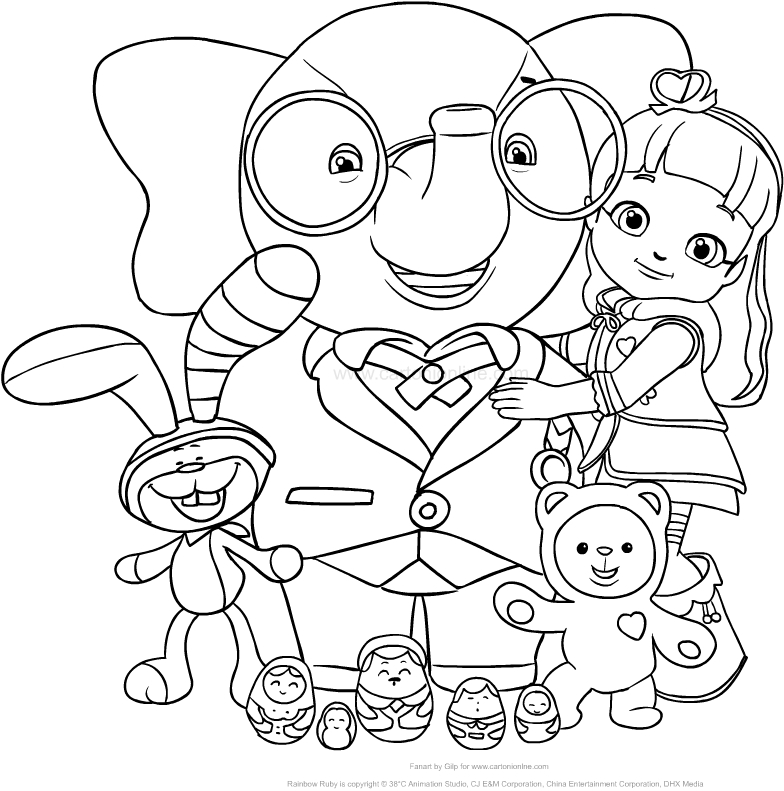 784x791 Drawing Rainbow Ruby With Her Friends From The Rainbow Village