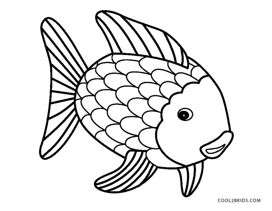 890x689 Fish With Scales Coloring Page Printable Photos Of Pretty Rainbow