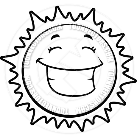 Black And White Sun Drawing