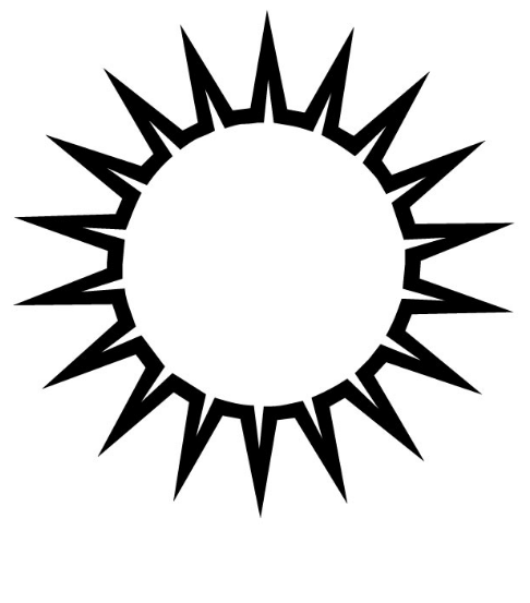 486x553 Sun Clipart Black And White Amp Sun Clip Art Black And White Images