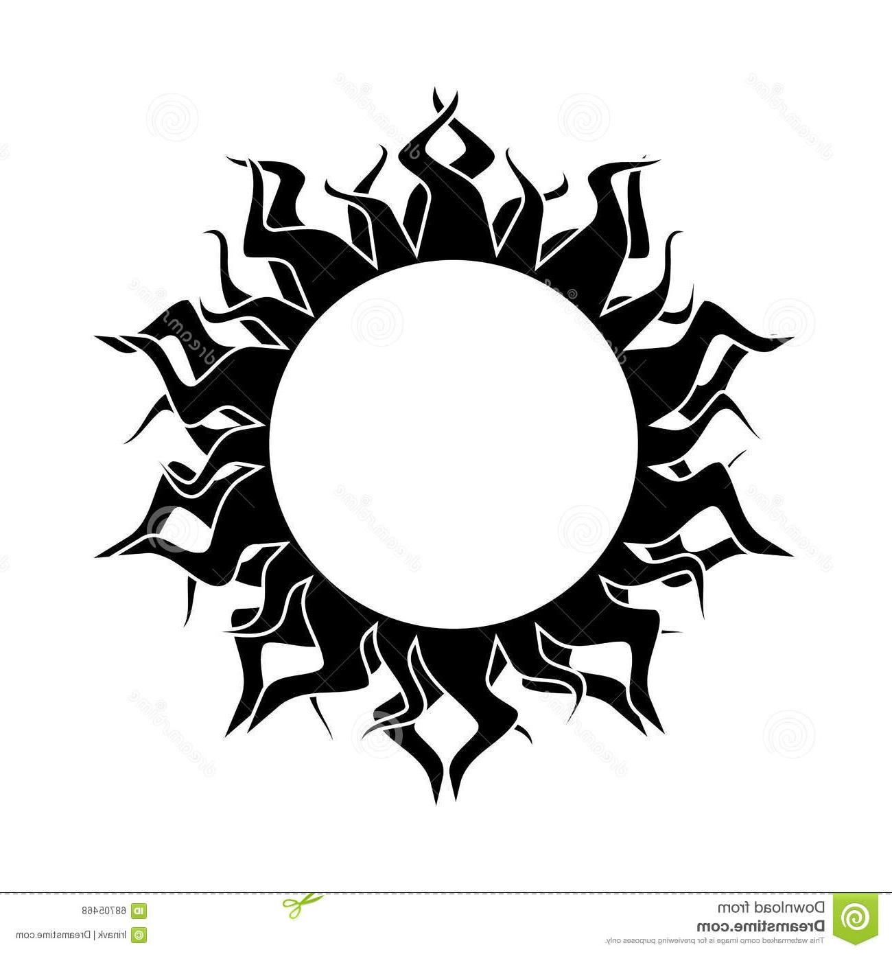 1300x1390 Top 10 Abstract Sun Vector Black White Background Cdr