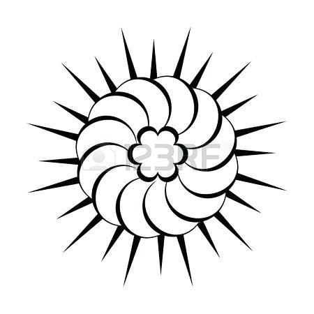 450x450 Simple Sun Drawing Black And White