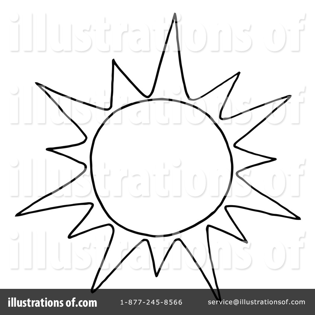 1024x1024 Black And White Sun Clipart