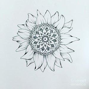 300x300 Zentangle Sun Drawings Fine Art America