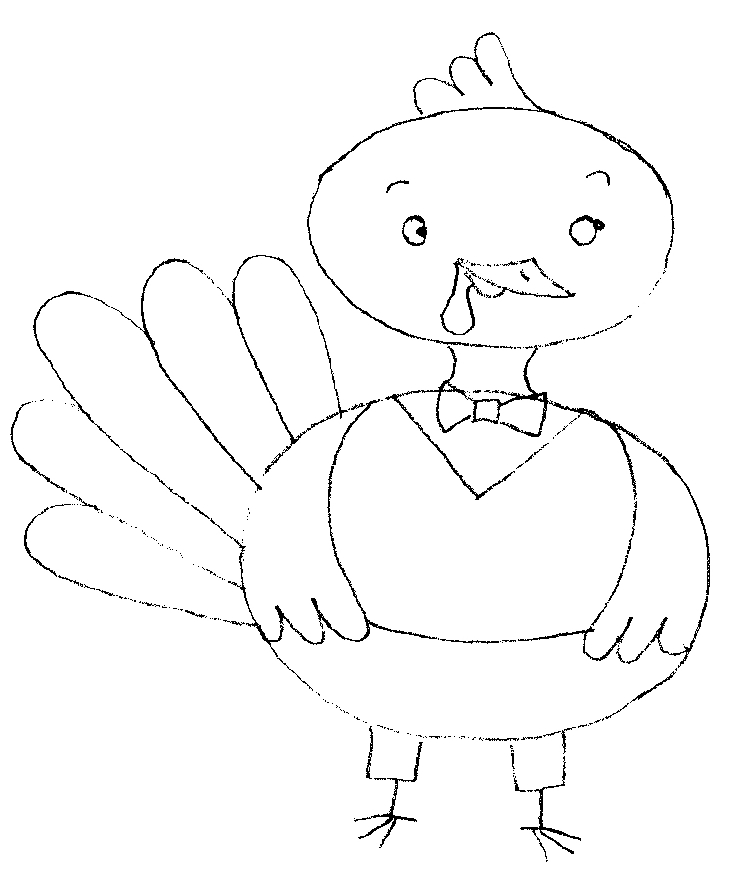 1500x1800 How To Draw A Turkey