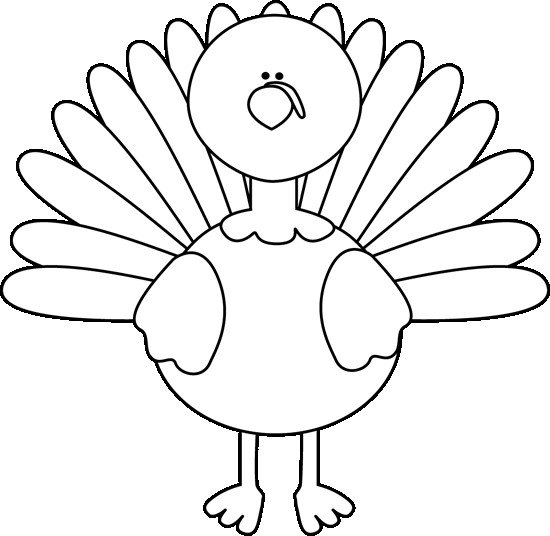 550x536 Thanksgiving Clip Art Black And White Great Remarkable Turkey