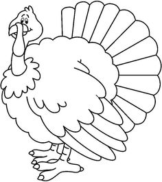 236x265 Turkey Coloring Pages