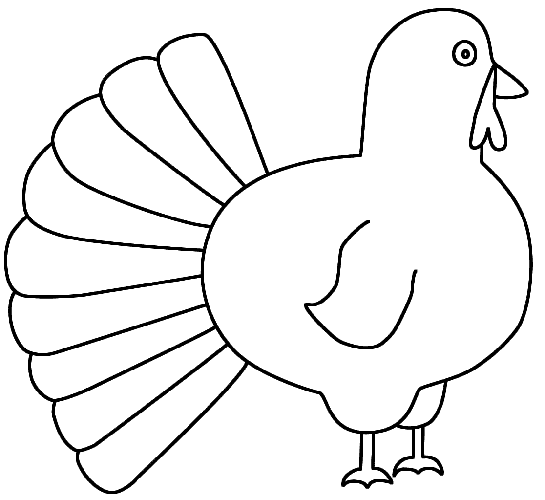 1116x1023 Turkey Clipart Easy