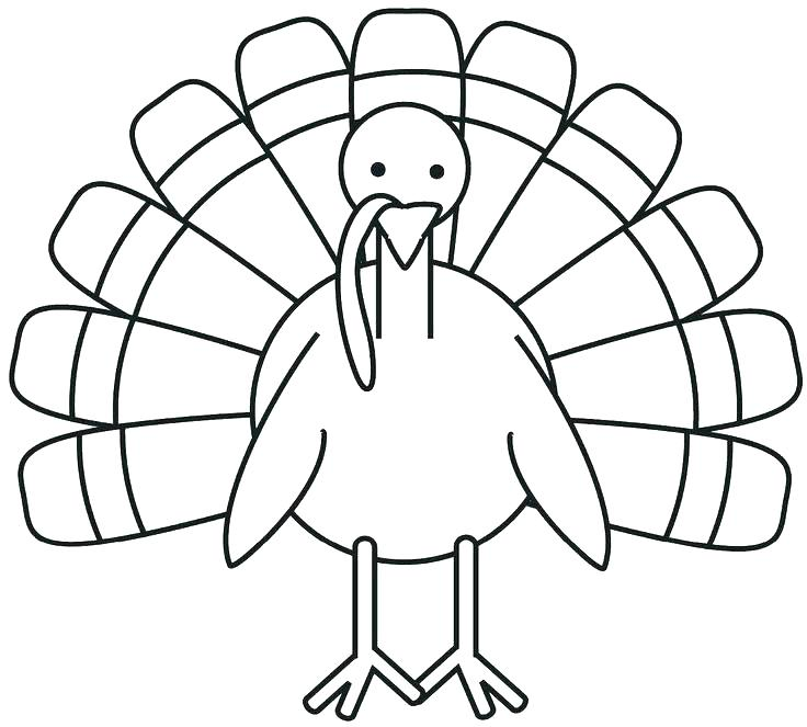 736x663 Black And White Turkey Coloring Pages Animals As Well Celebrities