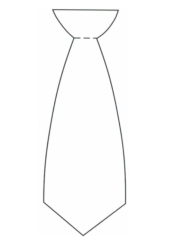 736x952 Drawn Tie Outline 3462520