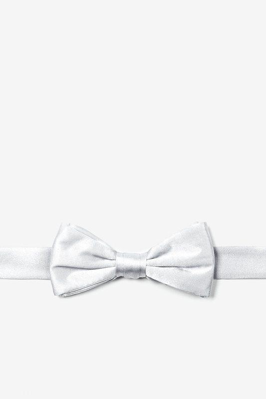 533x800 Wedding Day White Silk Boys Bow Tie