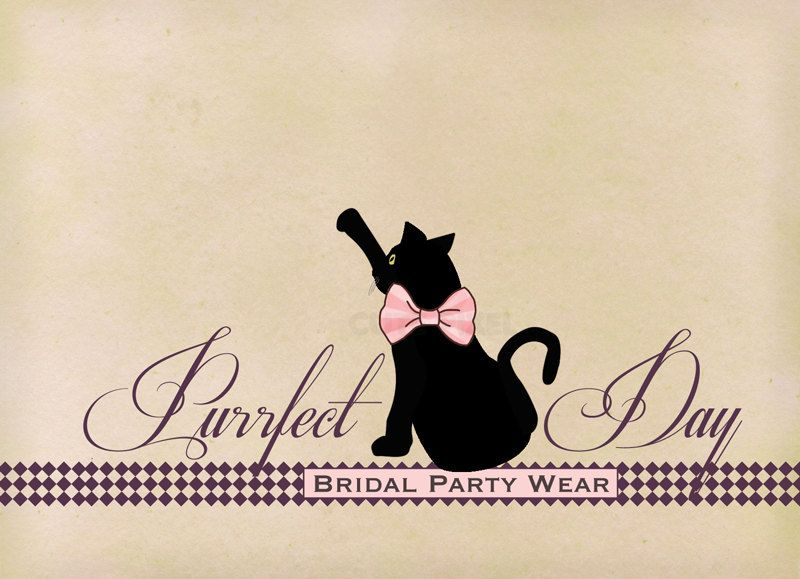 800x579 Premade Ooak Logo Purrfect Day Black Cat With A Pink Bow Tie