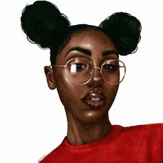 Black Girl Drawing Cartoon at GetDrawings.com