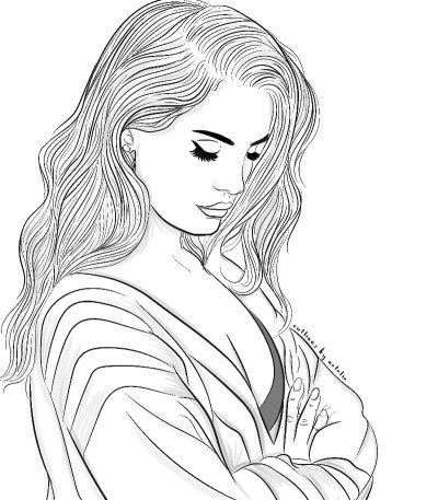 400x457 The 47 Best Tumblr Outlines Images On Drawing Girls