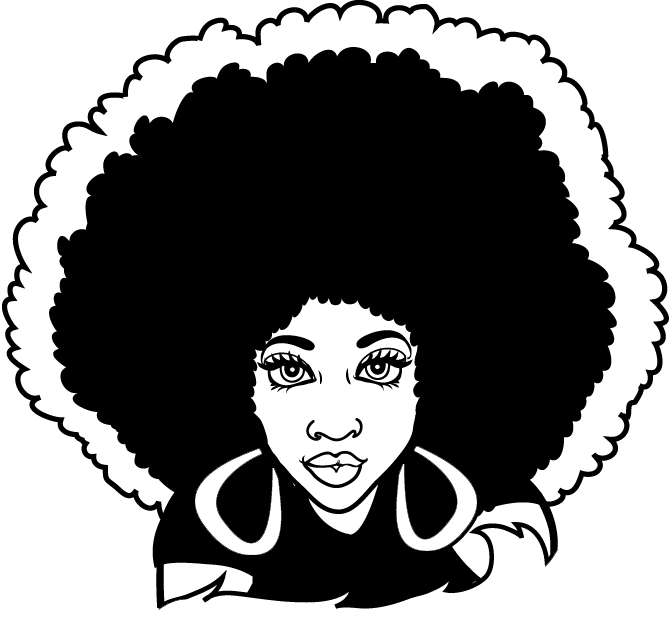 670x641 Collection Of Afro Lady Drawing High Quality, Free Cliparts