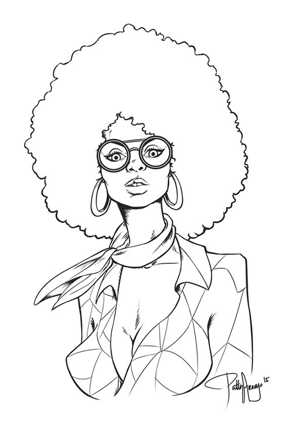 600x842 Afro Chick (70's Inspired Artwork) On Behance Afro Pages