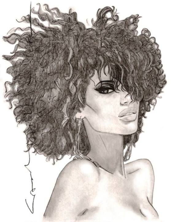 557x720 55 Amazing Black Hair Art Pictures And Paintings