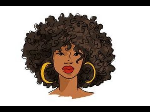 480x360 How To Draw African American Hair