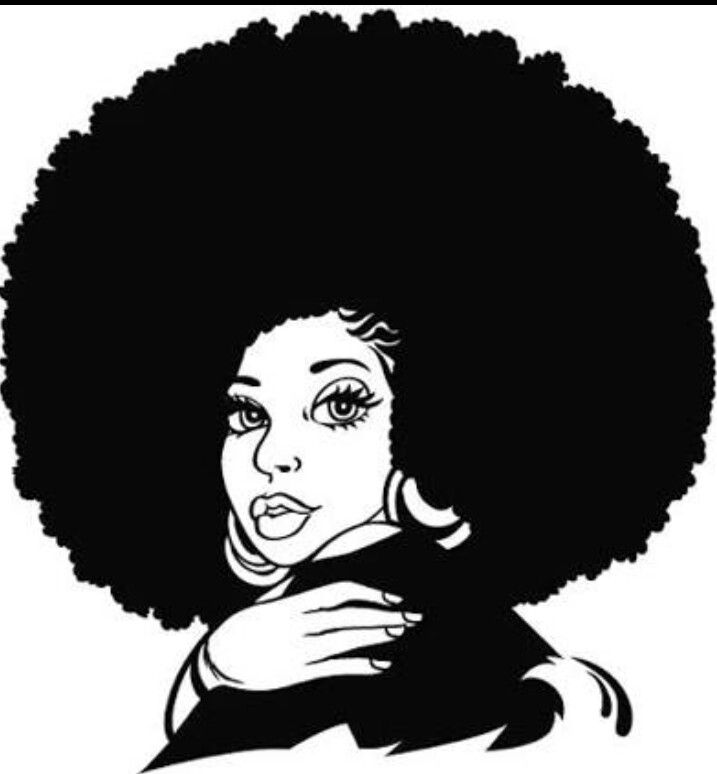 Black Girl With Natural Hair Drawing