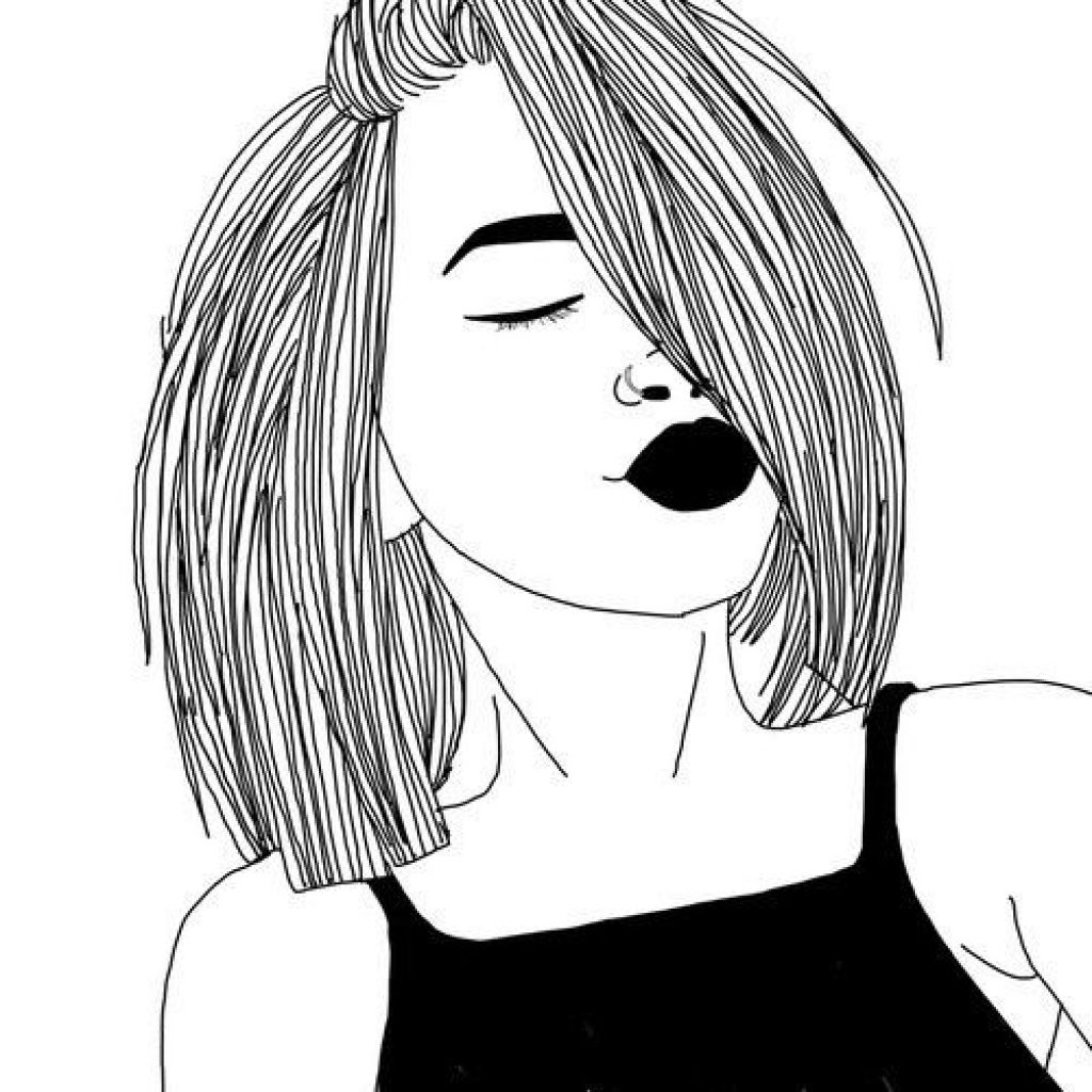 1024x1024 Amazing The Most Short Hair Girl Drawing Tumblr With Regard