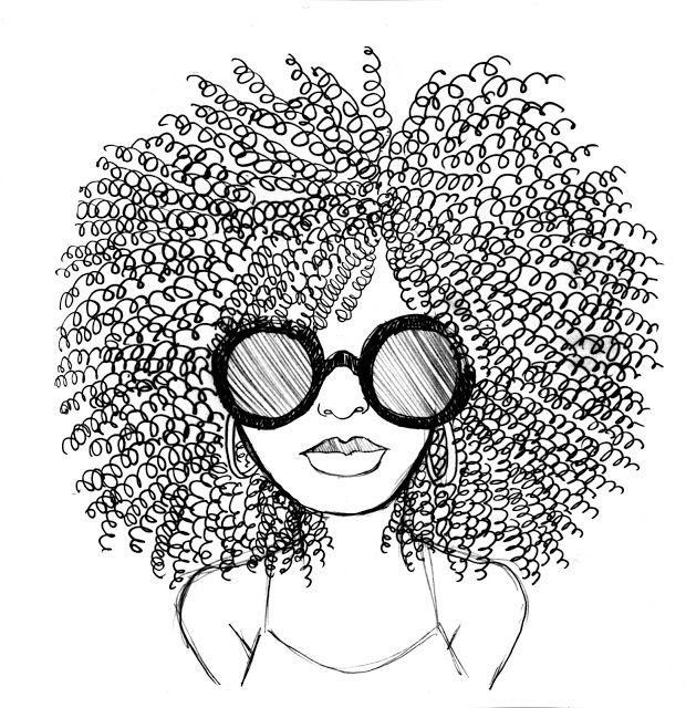 620x640 Collection Of Natural Hair Art Drawing High Quality, Free