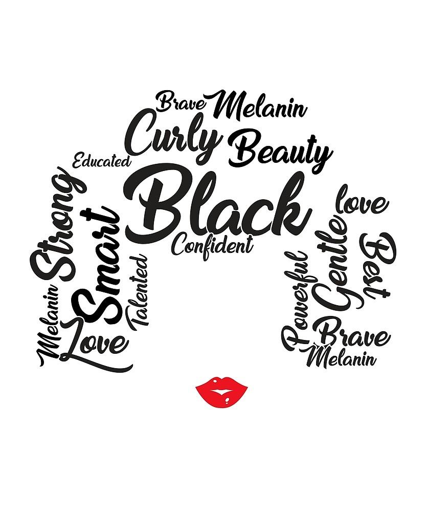 833x1000 Afro Word Art Natural Hair T Shirt For Black Women By Bucksworthy