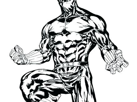 440x330 Marvel Coloring Pages New Black Panther Coloring Pages Print