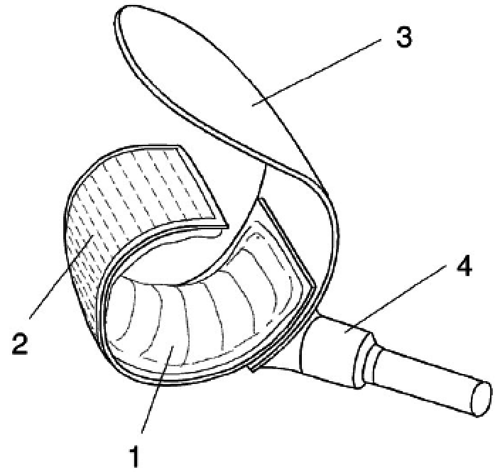 697x665 Drawing Of Finger Cuff With Inflatable Air Bladder (1), Flexible