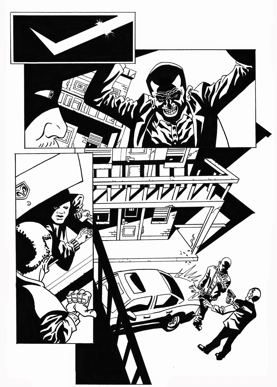 1145x1600 My Imaginations Home Blood In. Blood Out. Noir Gang Comic Book